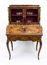 Antico francese Bonheur du Jour Kingwood & Marquetry c.1850-1