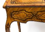 Antico francese Bonheur du Jour Kingwood & Marquetry c.1850-14