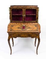Antico francese Bonheur du Jour Kingwood & Marquetry c.1850-2