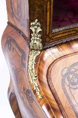 Antico francese Bonheur du Jour Kingwood & Marquetry c.1850-9
