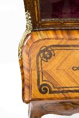 Antico francese Bonheur du Jour Kingwood & Marquetry c.1850-11