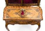 Antico francese Bonheur du Jour Kingwood & Marquetry c.1850-6