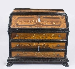 Antique Italian Renaissance Revival Marquetry Bureau 18th C-0