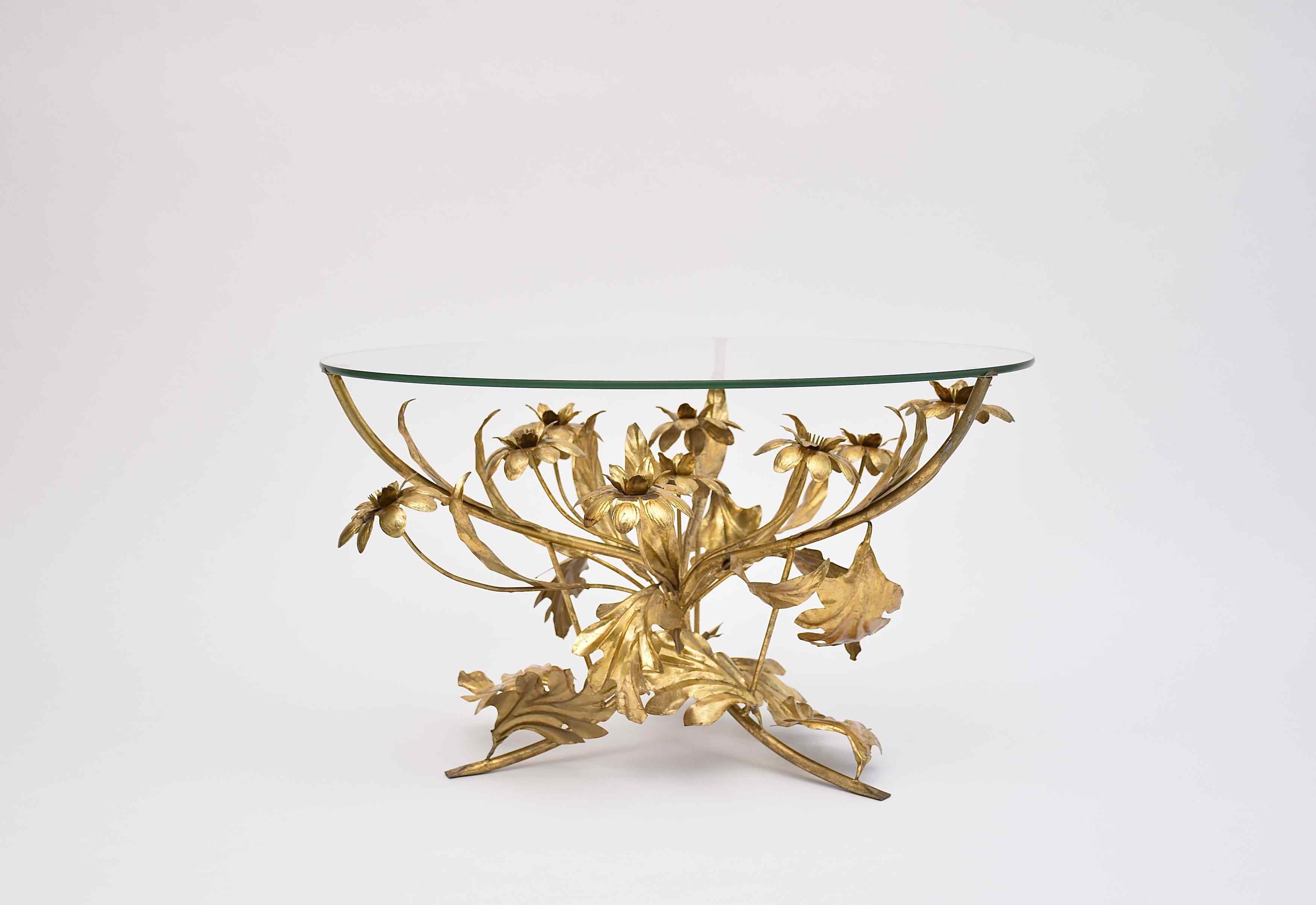 Hollywood Regency coffee table by Hans Kögl