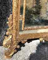 Louis XVI style carved and gilded wood mirror-4
