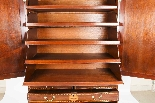 Antique George III Mahogany Satinwood Marquetry Linen Press-13