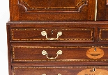 Antique George III Mahogany Satinwood Marquetry Linen Press-10