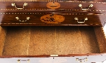 Antique George III Mahogany Satinwood Marquetry Linen Press-15