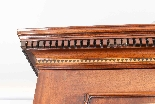 Antique George III Mahogany Satinwood Marquetry Linen Press-7