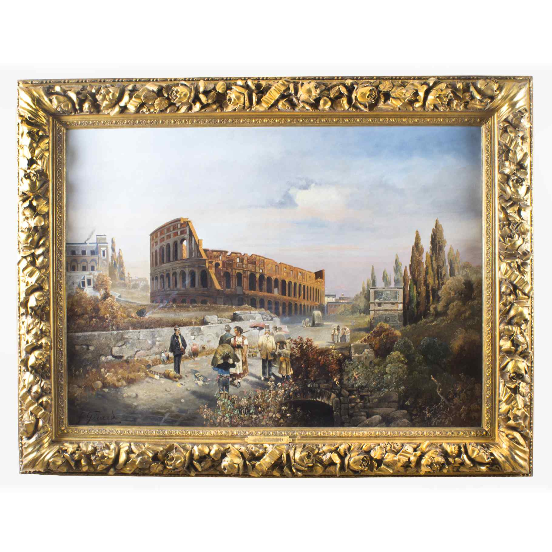 Antico dipinto ad olio François Gérard 1770-1837
