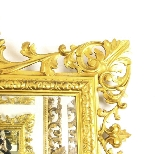 Antique Large English Carved Giltwood Overmantel Mirror-2