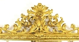 Antique Large English Carved Giltwood Overmantel Mirror-3