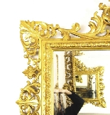Antique Large English Carved Giltwood Overmantel Mirror-4