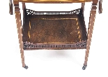 Antique Pair English Marquetry Inlaid Bedside Tables 19th C-5