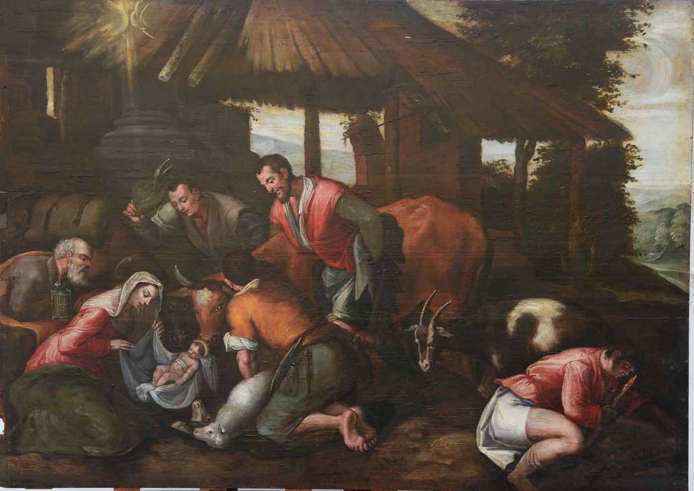 Ancient painting of the sixteenth century