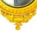 Specchio convesso antico regency inglese dorato del XIX seco-3