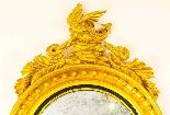 Specchio convesso antico regency inglese dorato del XIX seco-1