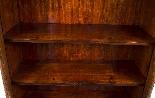 Antique Victorian Burr Walnut Low Display Cabinet C1860-6
