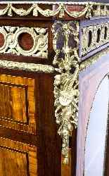 Antique Victorian Burr Walnut Low Display Cabinet C1860-7
