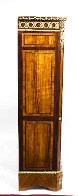Antique Victorian Burr Walnut Low Display Cabinet C1860-9