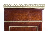 Antique French Brass Inlaid Tambour Front Cabinet c.1880-7