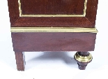 Antique French Brass Inlaid Tambour Front Cabinet c.1880-8