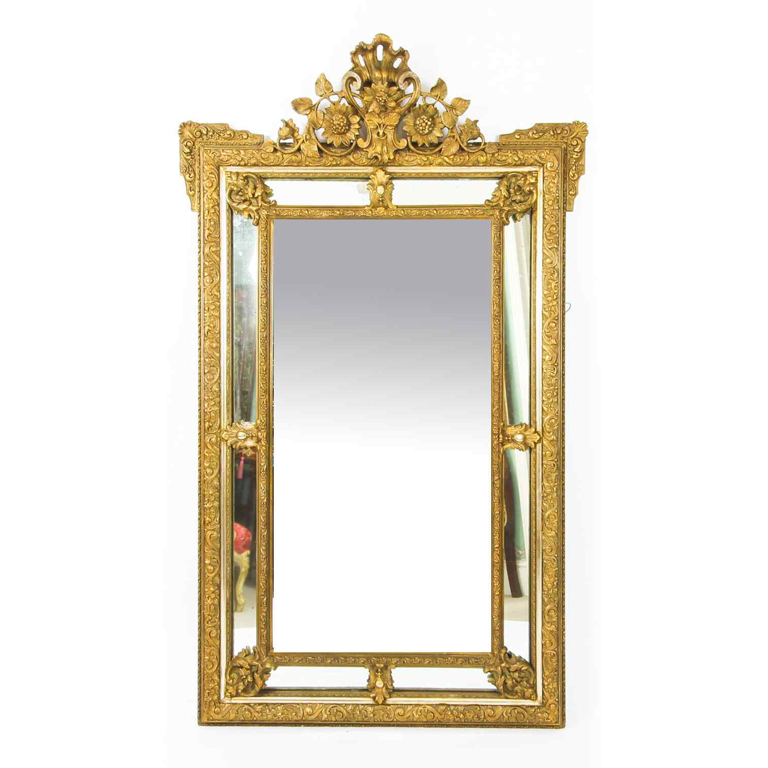 Antique French Giltwood Overmantel Louis Revival Mirror