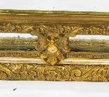 Specchio antico francese Revival Overmantel in stile dorato -4