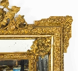 Antique French Giltwood Overmantel Louis Revival Mirror-2