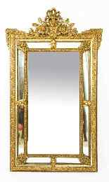 Antique French Giltwood Overmantel Louis Revival Mirror-7