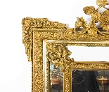Antique French Giltwood Overmantel Louis Revival Mirror-3