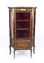 Vetrina antica francese in stile francese Revival 1870-1