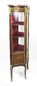 Vetrina antica francese in stile francese Revival 1870-8