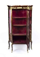 Vetrina antica francese in stile francese Revival 1870-4