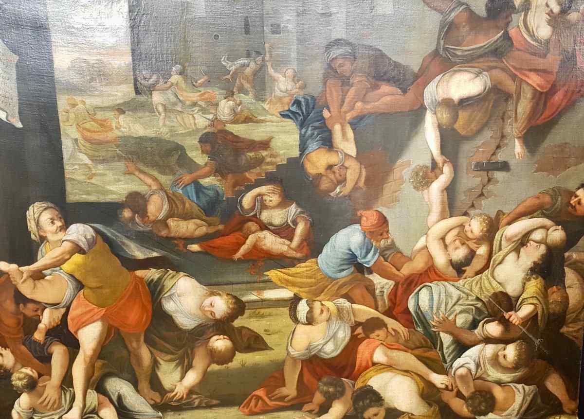 Il massacro degli innocenti, XVII tela (186 cm x 136 cm)