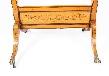 Antique Edwardian Satinwood Marquetry Inlaid Cheval Mirror-5