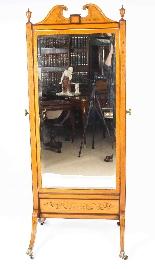 Specchio cheval intarsiato intarsiato intarsiato in legno ed-1