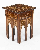 Antique Set 3 Syrian Mother Pearl Inlaid Occasional Tables-2