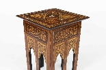 Antique Set 3 Syrian Mother Pearl Inlaid Occasional Tables-4