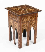 Antique Set 3 Syrian Mother Pearl Inlaid Occasional Tables-7