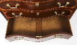 Antique Mahogany George III Serpentine Chest Drawers 18th C-4