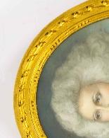 Antique Pair French Pastel & Gouache Portraits Mid 19th C-6