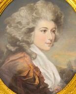 Antique Pair French Pastel & Gouache Portraits Mid 19th C-2