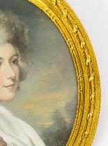 Antique Pair French Pastel & Gouache Portraits Mid 19th C-3