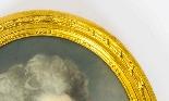 Antique Pair French Pastel & Gouache Portraits Mid 19th C-4