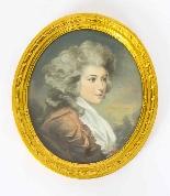 Antique Pair French Pastel & Gouache Portraits Mid 19th C-1