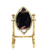 Specchio da tavolo antico smaltato Ormolu e Limoges F.Bienvu-5