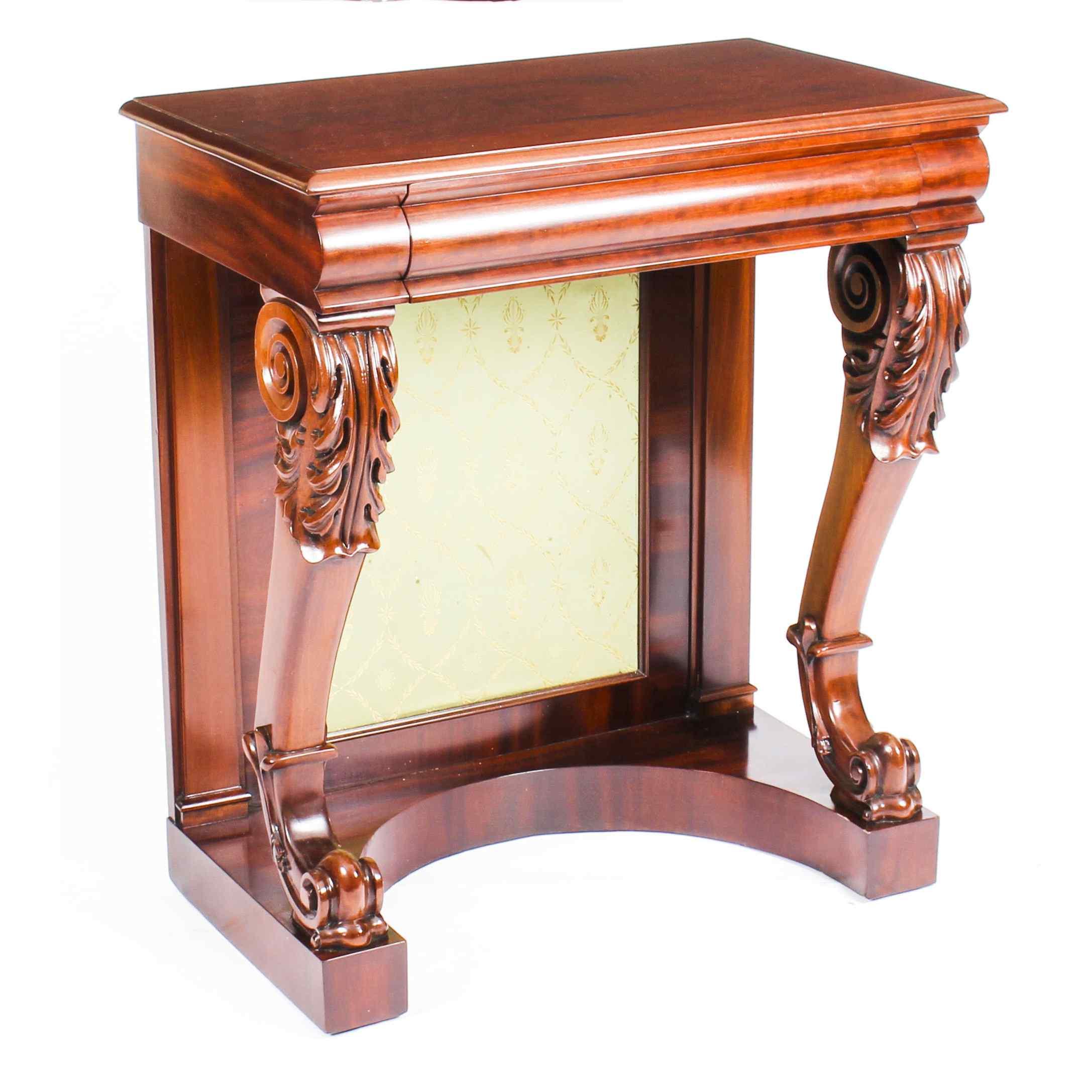 Antique Victorian Mahogany Console Hall Table 19th Century