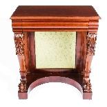 Antique Victorian Mahogany Console Hall Table 19th Century-1