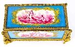 Antico scrigno di gioielli in porcellana di Sevres e Ormolu-3